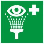 Augenspüleinrichtung Symbol, Folie selbstklebend, 20 x 20 cm