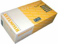 100 puderfreie Latex-Einmalhandschuhe