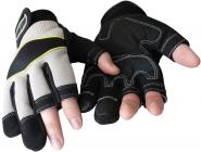 Kunstlederhandschuhe mit Verstärkungen u. 3 freien Fingerkuppen