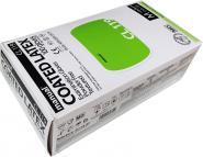 100 Latex-Einmalhandschuhe polymerbeschichtet