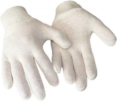 Grobe, naturfarbene Baumwollhandschuhe (100 % Baumw.)
