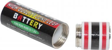 Geldversteck: Batterie mit Geheimfach