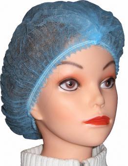 100 Vlies-Haarnetze mit Doppelstich elastisch