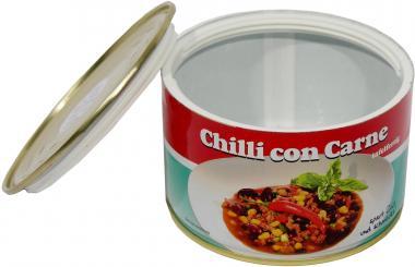 Geldversteck: Dosensafe/ Dosentresor aus Chilli Con Carne Dose