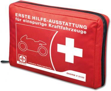 Motorrad-Verbandtasche gefüllt nach ÖNORM V5100, rot