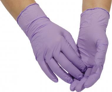 100 violette Nitril-Einmalhandschuhe