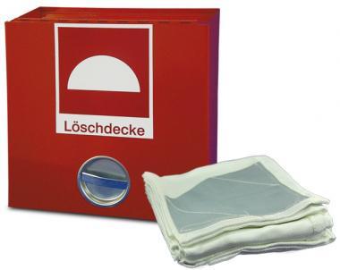1,6 m x 2 m Löschdecke / Feuerlöschdecke im Metallbehälter EN 1869
