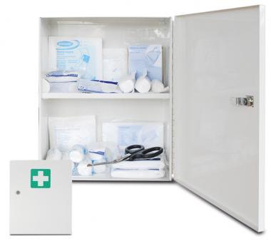 clevisto der gesundheitsschutz versand hilft clever sch tzen erste hilfe schrank gef llt. Black Bedroom Furniture Sets. Home Design Ideas
