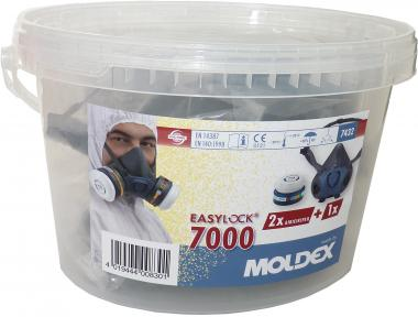 Atemschutzbox: Moldex Maskenkörper (Gr. M, 7002) inkl. 2 x ABEKP3 R Filter