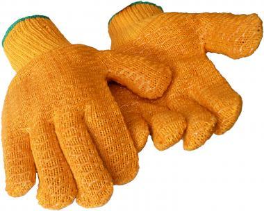 Griffige, nahtlose Strickhandschuhe aus Polycotton