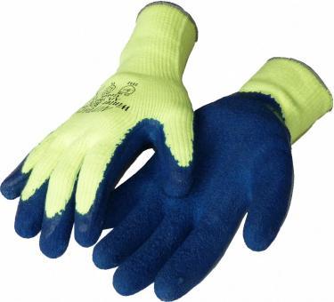 Latexbeschichtete Kälteschutzhandschuhe in Signalfarbe gelb