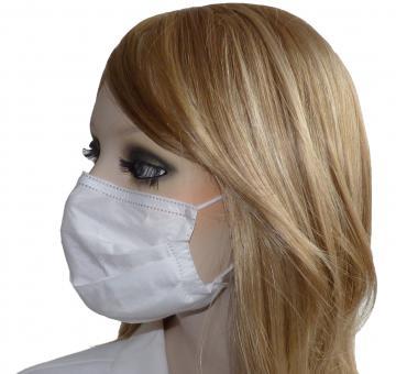 Weißer OP-Mundschutz, 50 OP-Masken