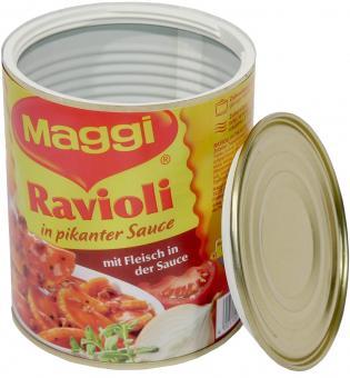 Geldversteck: Dosensafe/ Dosentresor aus Maggi Ravioli-Dose