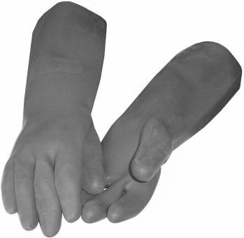 45 cm lange, schwarze schwere Industriehandschuhe