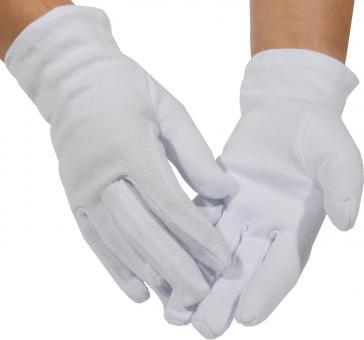 Weiße Baumwollhandschuhe (100 % Baumwolle, dicke Qualität, schadstoffgeprüft)