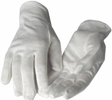 Weiße Baumwollhandschuhe