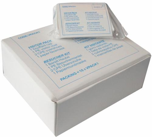 10 Besucherhygienesets einzeln verpackt