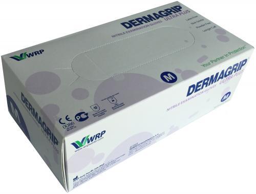 200 blaue Nitril-Einmalhandschuhe DERMAGRIP Ultra Plus