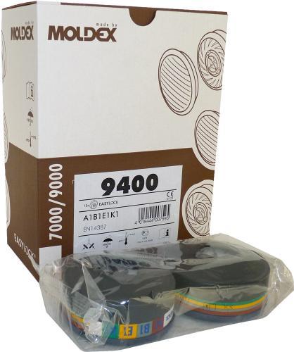 10 Moldex ABEK Gasfilter 9400 - passend für Masken der Serie 7000 und 9000