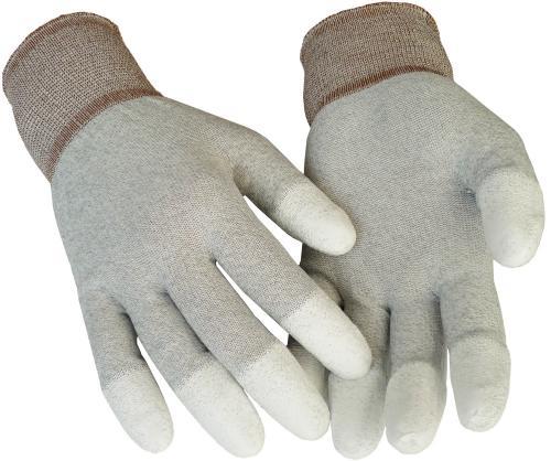 Antistatische Handschuhe mit Fingerspitzenbeschichtung