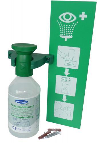Erste-Hilfe Augenspülstation/ Augenspülflasche mit Halterung