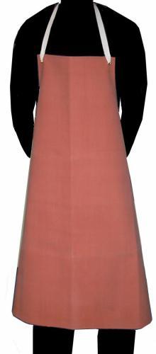 Rote Gummischürze
