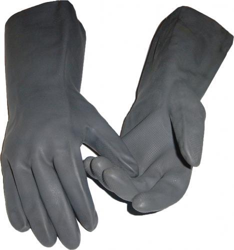 Schwarze schwere Latex-Arbeitshandschuhe