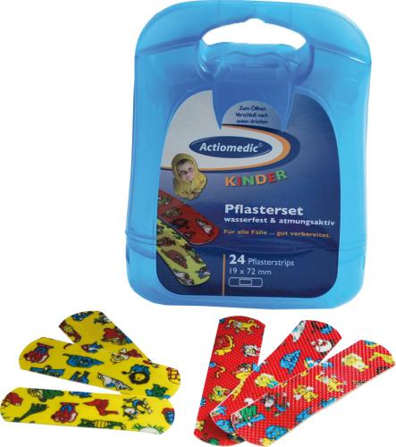 Actiomedic® KINDER Pflasterset mit 24 Pflasterstrips 19x72 mm