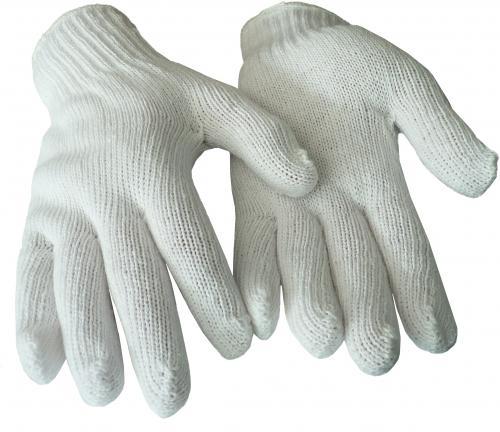 Weiße Strickhandschuhe in Einheitsgröße