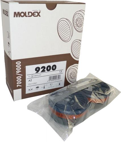 8 Moldex A2 Gasfilter 9200 - passend für Masken der Serie 7000 und 9000