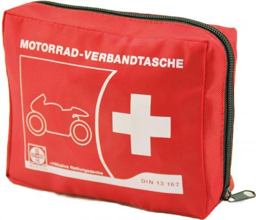 Motorrad-Verbandtasche mit Füllung DIN 13167
