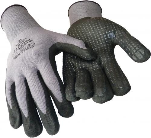 Nahtlose Feinstrick Nylon-Handschuhe mit Nitril-Noppenbeschichtung
