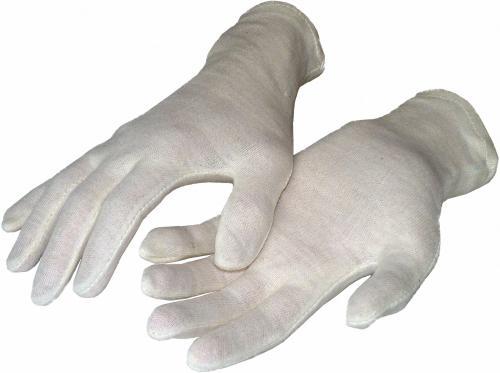 Baumwollhandschuhe naturfarben