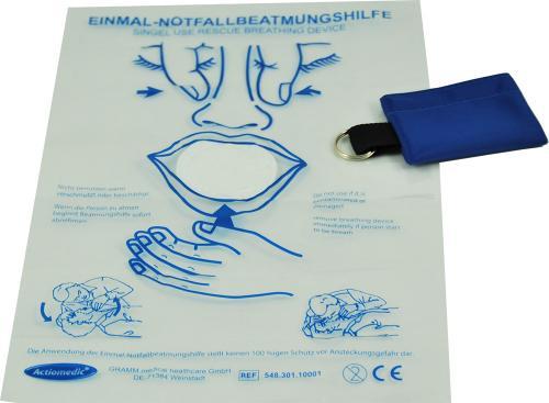 Actiomedic® Erste-Hilfe Beatmungstuch mit Schlüsselanhänger