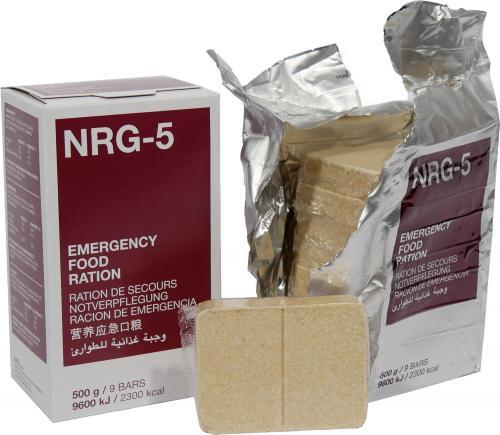 NRG-5 Notverpflegung mit 2300 kcal, 9 Riegel (MHD: 5-2040)