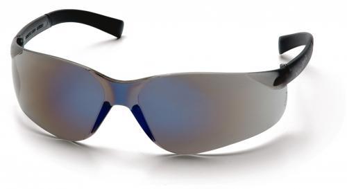 Schutzbrille mit blau verspiegelten Scheiben blue-mirror