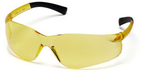 Schutzbrille mit gelben Scheiben/ Fassung gelb
