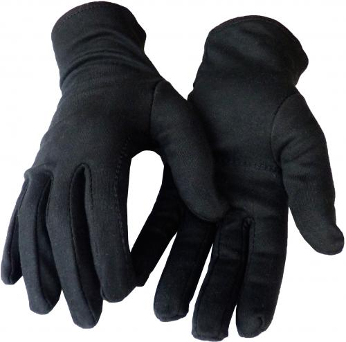 Schwarze Baumwollhandschuhe (100 % Baumwolle, dicke Qualität)