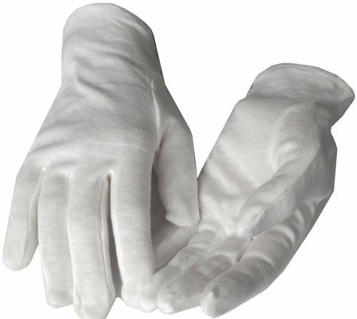 12 Paar Weiße Baumwollhandschuhe